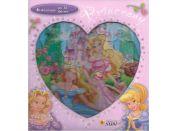 Princezny skládačková knížka srdce