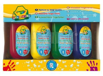 Prstové barvy smývatelné
