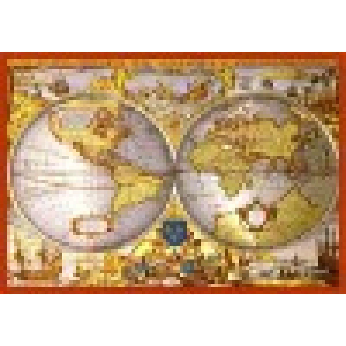 Puzzle 1000 Metallic Mapa světa
