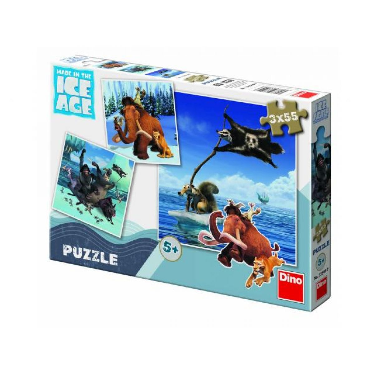 Puzzle 2x55 dílků Doba ledová 4 Dino