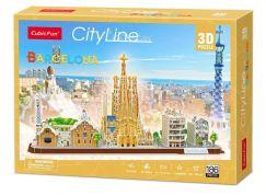 Puzzle 3D City Line Barcelona 186 dílků