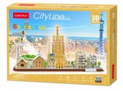 Puzzle 3D City Line Bracelona 186 dílků