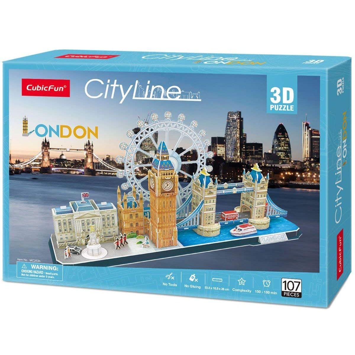 Puzzle 3D City Line Londýn 107 dílků