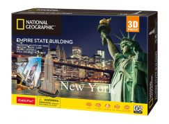 Puzzle 3D National Geographic Empire State Building 66 dílků