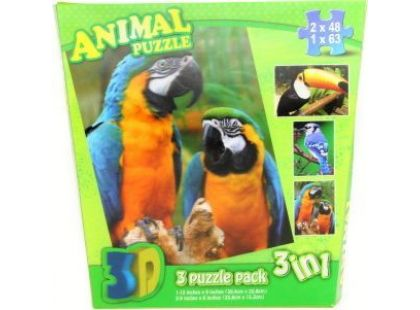Puzzle 3D Ptáci 3v1