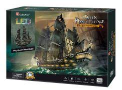 Puzzle 3D Queen Anne's Revenge LED 340 dílků