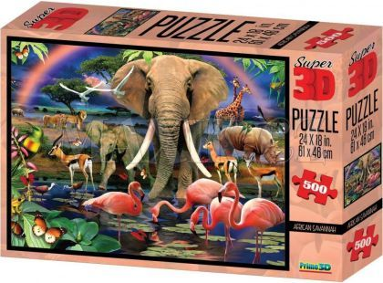 Puzzle 3D Safari 500 dílků