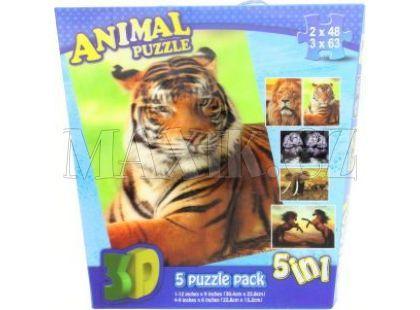 Puzzle 3D Zvířata 5v1