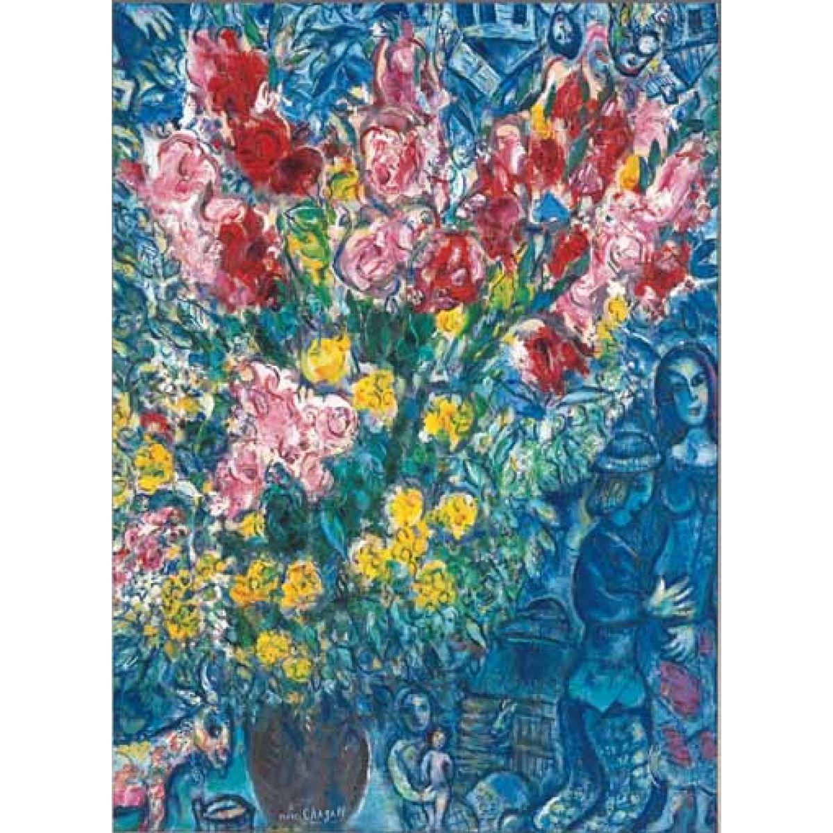 Puzzle CHAGALL-Le Bouquet des femiers, 1000d