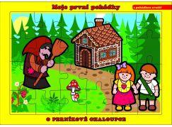 Puzzle deskové O Perníkové Chaloupce 24 dílků
