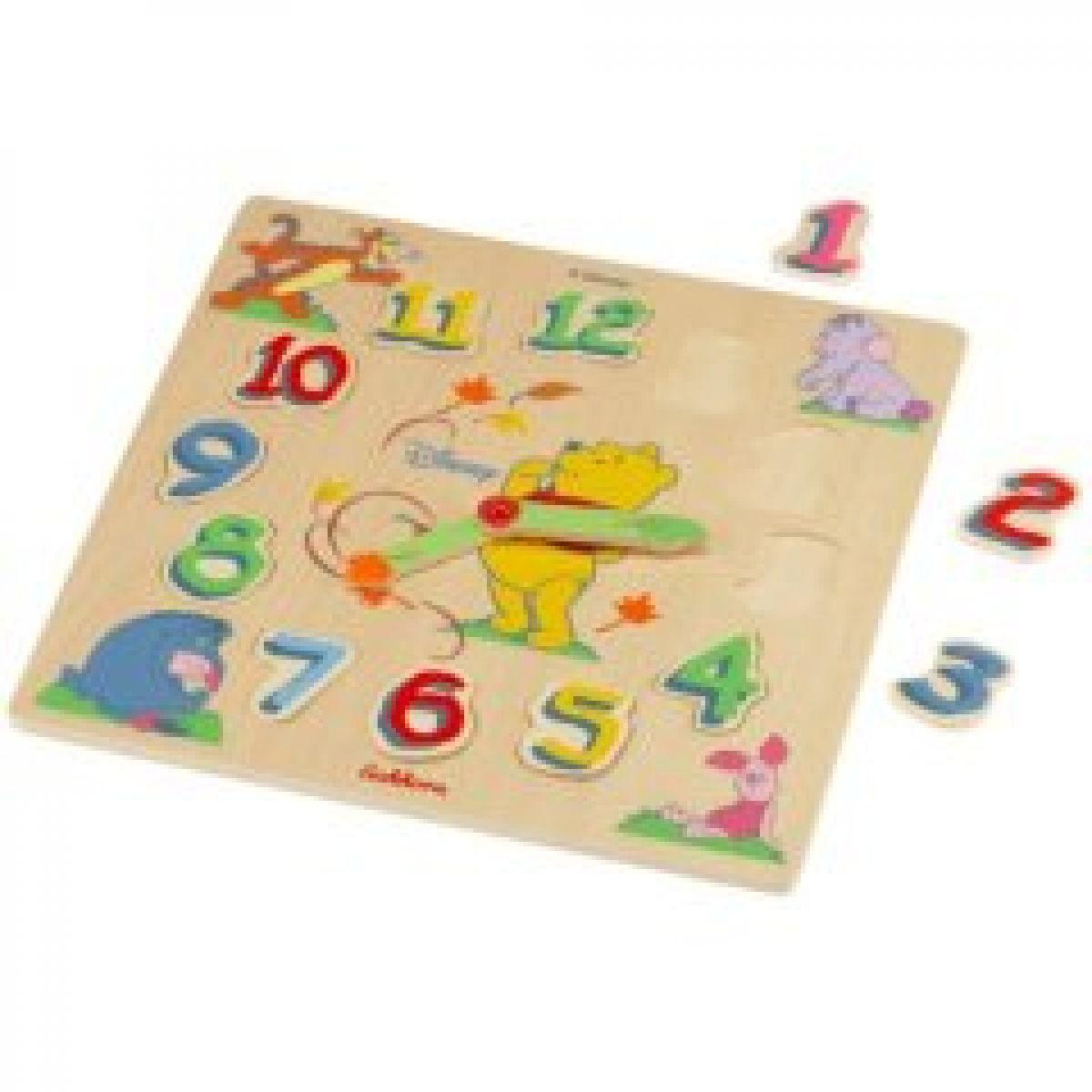 Puzzle dřevěné 30x30cm Medvídek Pú