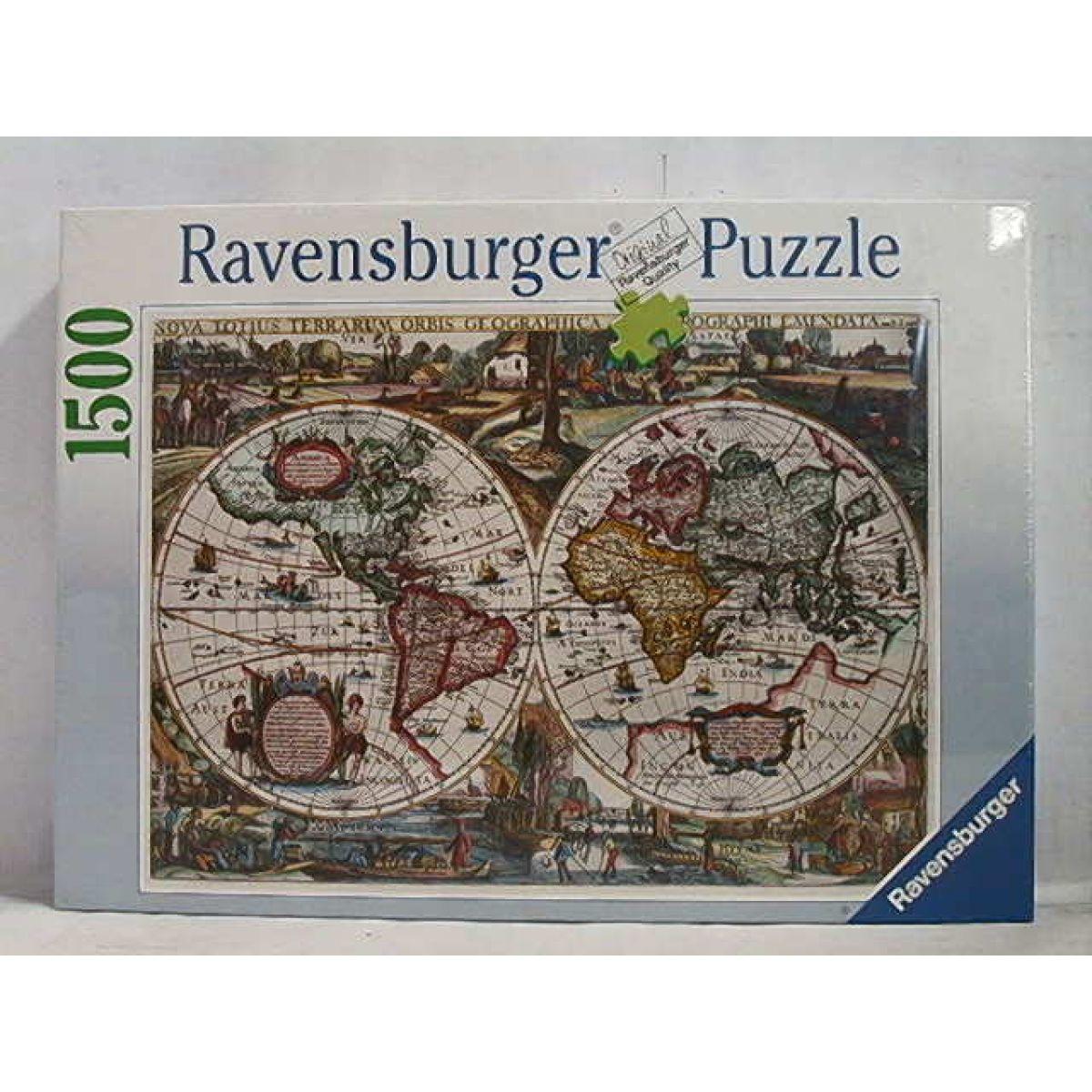 Puzzle Historická mapa r.1636 1500d