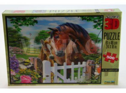 Puzzle Koně 500 dílků 3D