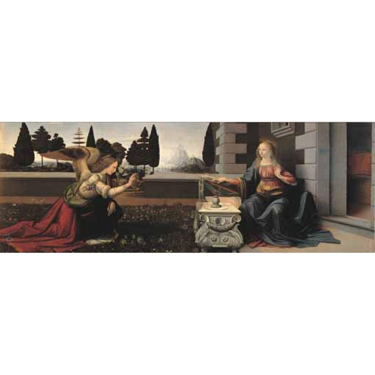Puzzle LEONARDO-Zvěstování Panny Marie panorama, 1000d