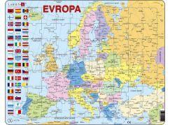 Puzzle Mapa Evropy 70d