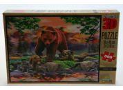 Puzzle Medvědi 500 dílků 3D