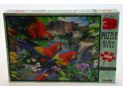 Puzzle Papoušci 500 dílků 3D