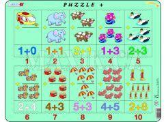 Puzzle Sčítání s obrázky a čísly