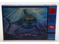 Puzzle Žralok 500 dílků 3D