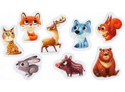 Puzzlika 14798 Lesní zvířátka naučné puzzle 8 zvířátek 16 dílků