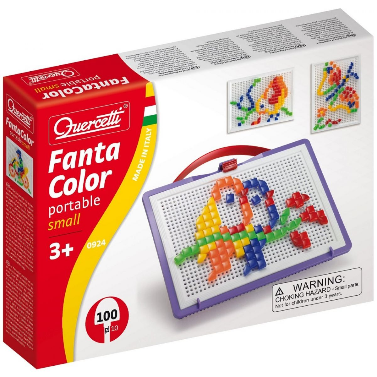 Quercetti Mozaika Fantacolor Portable Čtverečky 100ks