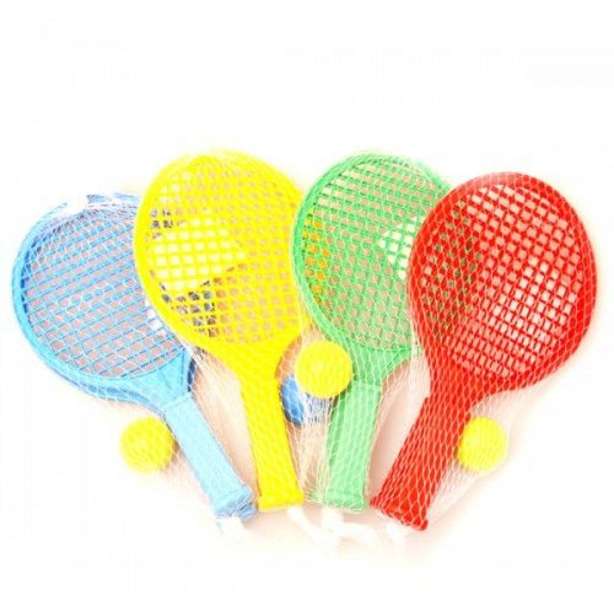 Raketa plážová malá soft tenis barevný