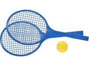 Raketa plážová střední soft tenis barevný modré