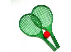 Raketa plážová střední soft tenis barevný zelené