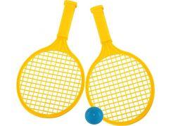 Raketa plážová střední soft tenis barevný žluté