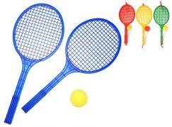 Raketa plážová velká soft tenis barevný