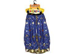 Rappa Dětský kouzelnický modrý plášť s hvězdami čarodějnice