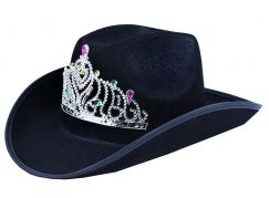 Rappa klobouk kovbojský s korunkou pro dospělé
