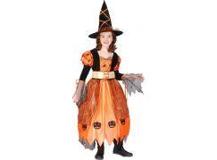 Rappa Kostým čarodějnice Halloweenská vel. S