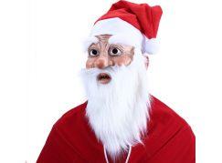 Rappa Maska Santa Claus s čepicí a vousy