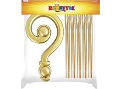 Rappa Mikulášská berle plastová zlatá 185 cm