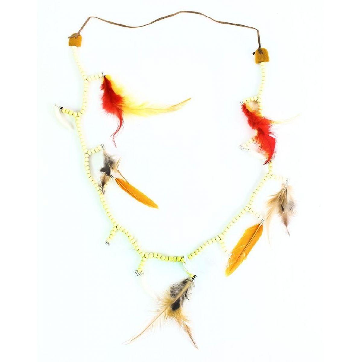 Rappa náhrdelník indiánský s barevným peřím