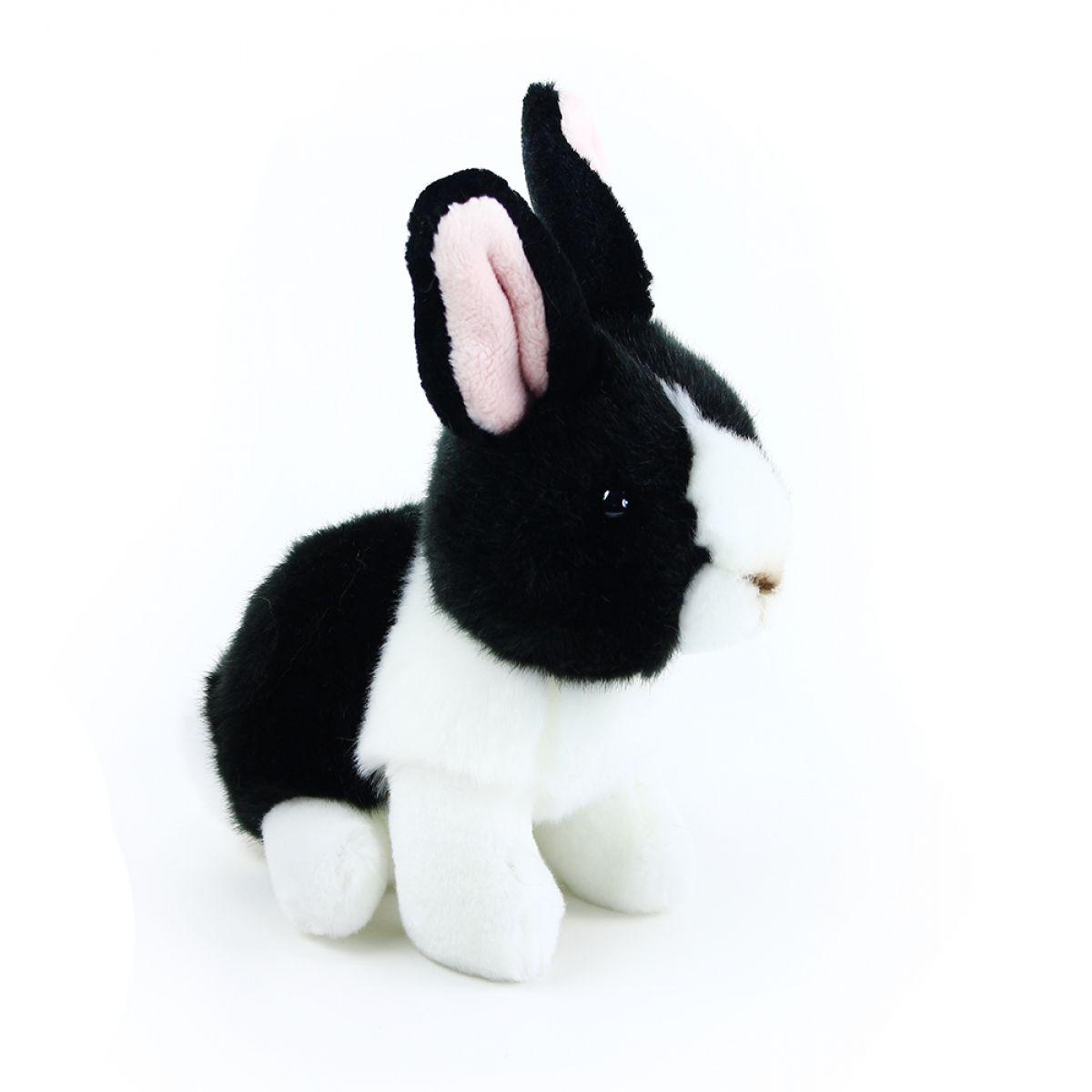 Rappa plyšový králík  16 cm Černo - bílý