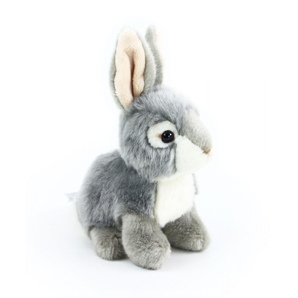 Rappa plyšový králík  16 cm Šedo - bílý