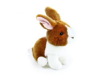 Rappa plyšový králík  16 cm Hnědo - bílý