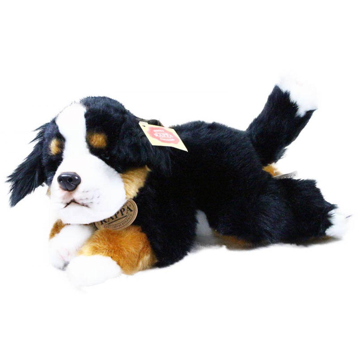 Rappa plyšový pes ležící  30 cm Bernardýn