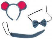 Rappa sada myš s ocasem, čelenkou a motýlkem
