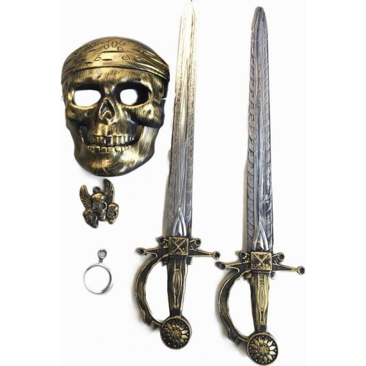 Rappa sada pirátská s maskou a 2 meči