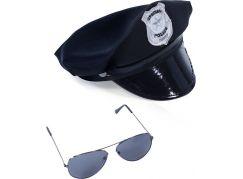 Rappa Sada policejní čepice s brýlemi pro dospělé