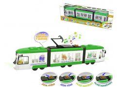 Rappa tramvaj mluvící česky se zvukem a světlem zelená