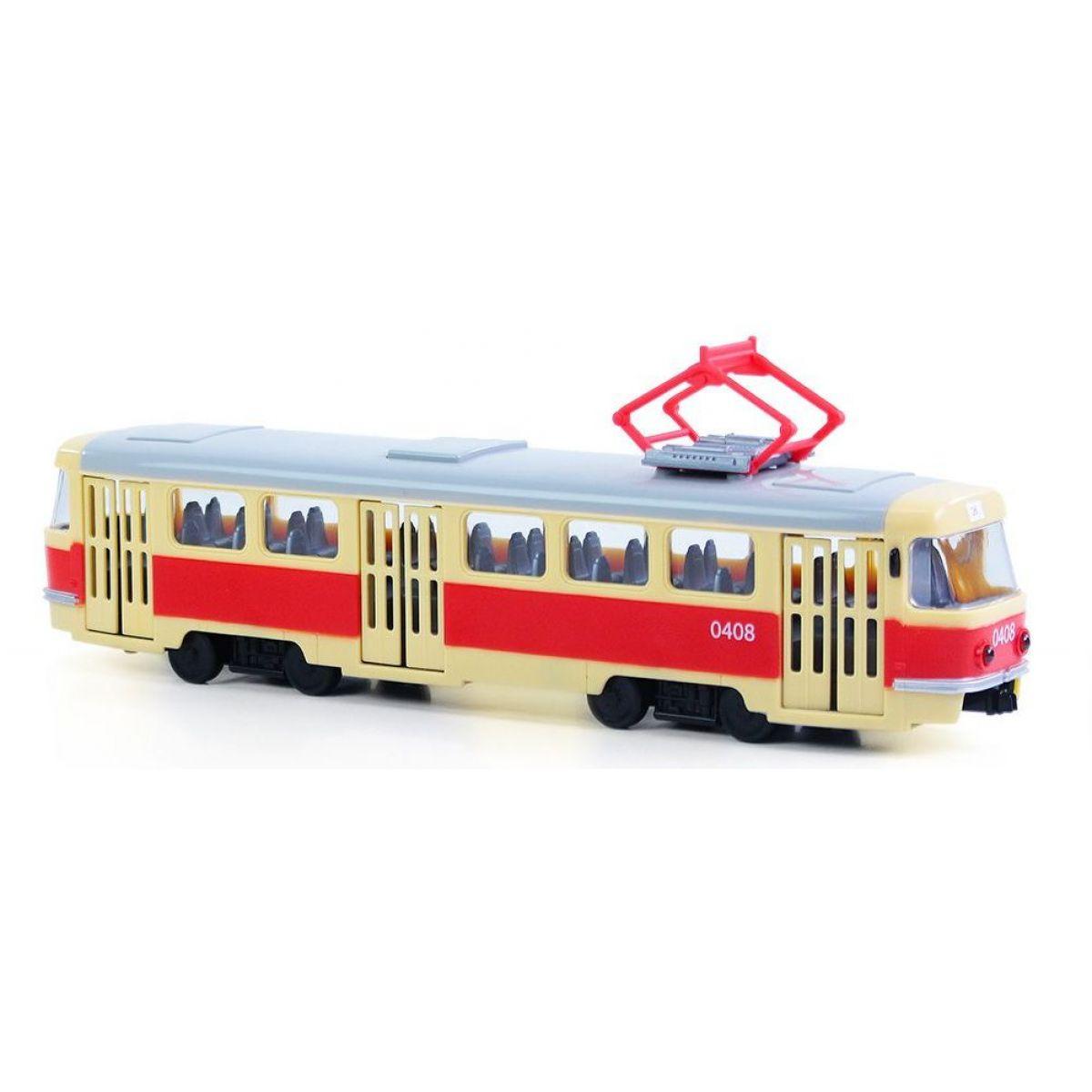 Rappa tramvaj plastová s funkčními dveřmi 28 cm
