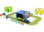 Rappa Vlak dřevěný naučný s puzzle a magnetickou krabičkou