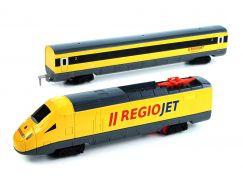Rappa vlak žlutý RegioJet se zvukem a světlem funkční model soupravy