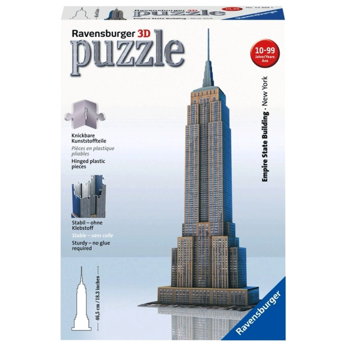 Ravensburger 3D Empire State Building 216 dílků - Poškozený obal