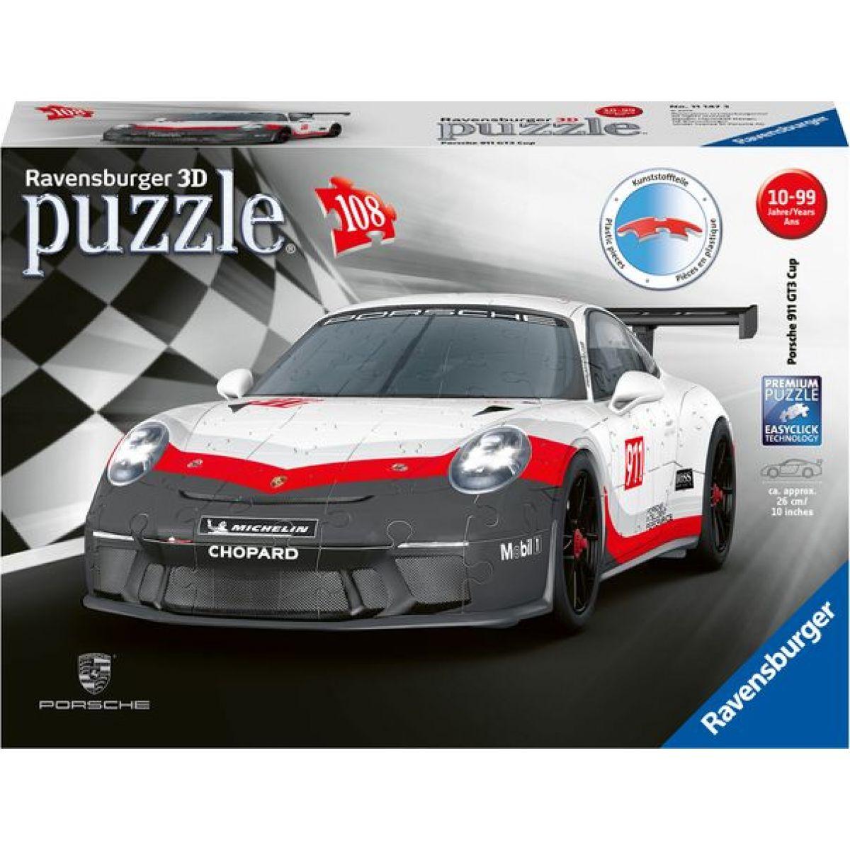 Ravensburger 3D Puzzle 111473 Porsche GT3 Cup 108 dílků