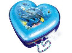 Ravensburger 3D puzzle 111725 Srdce podmořský svět 54 dílků